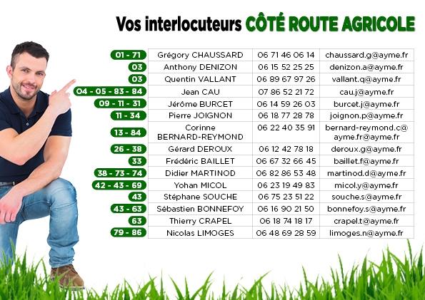 Vos interlocuteurs Côté Route pneu agricole