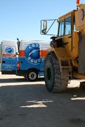 Dépannage pneus génie civil, travaux publics et manutention
