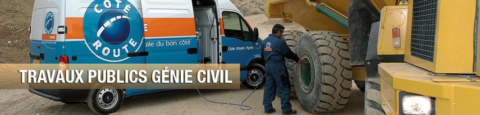 Côté Route pour les Travaux Publics et le Génie Civil